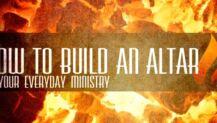 how to build an altar