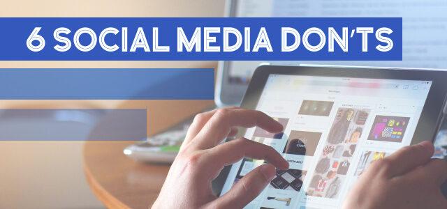 Planter: 6 Social Media DON'Ts